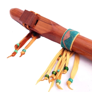 Flute wrap on cedar Dm flute