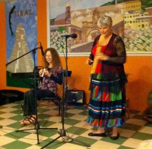 Marcia & Bette improvise on stage
