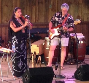 Rona Yellow Robe playing flute