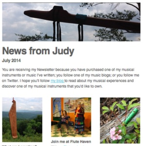 News from Judy - July 2014