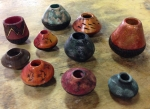 A sample of a few of the vessels Judy made.