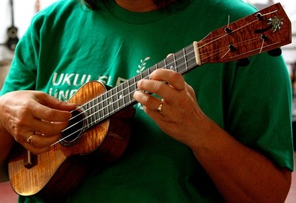 Koa ukulele made with Mike DaSilva!