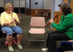 Allene & Laurie have a dialogue through flutes