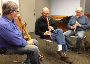 Jim, Jeff, Dan in a flute conversation