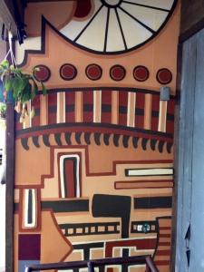 Wall art at Satchel's