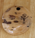 Wood pendant with pyrography