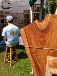 large slab of tree trunk