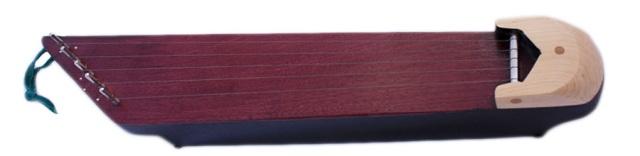 5-string kantele made with purple heart soundboard