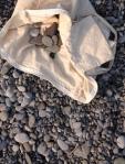 stones on lake shore