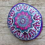 mandala painted on stone