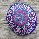 mandala painted on stone
