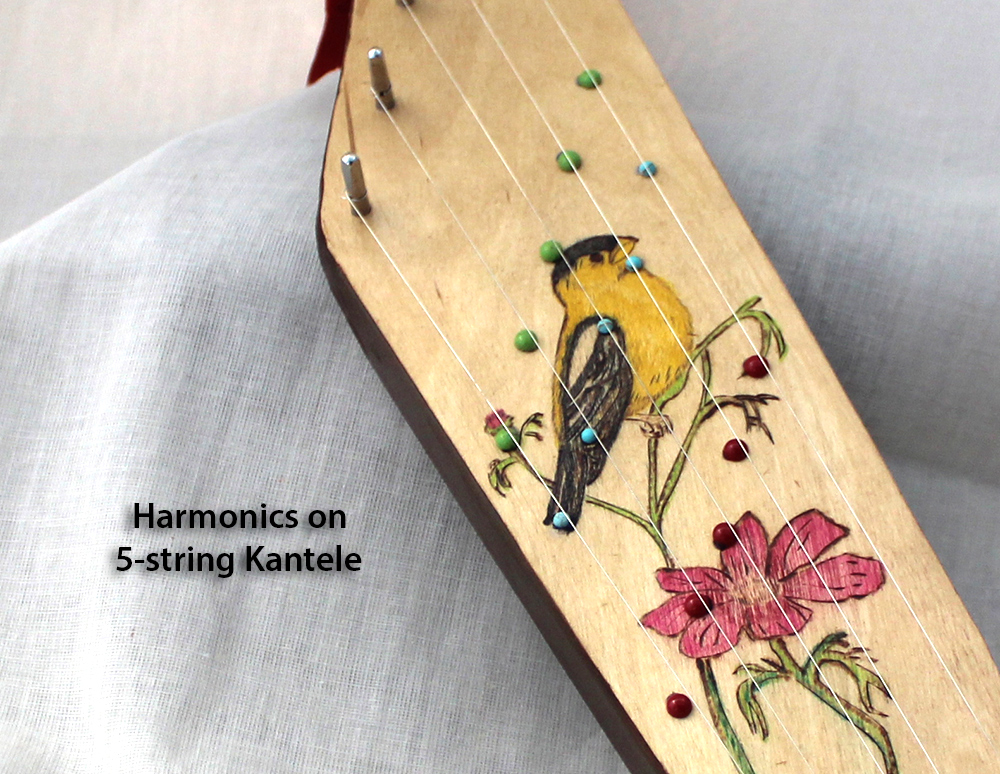 Harmonics on a 5 string kantele