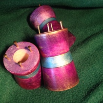 Purple poplar spools