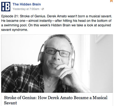Hidden Brain podcast Derek Amato