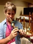 Kim Adamson and branch flute