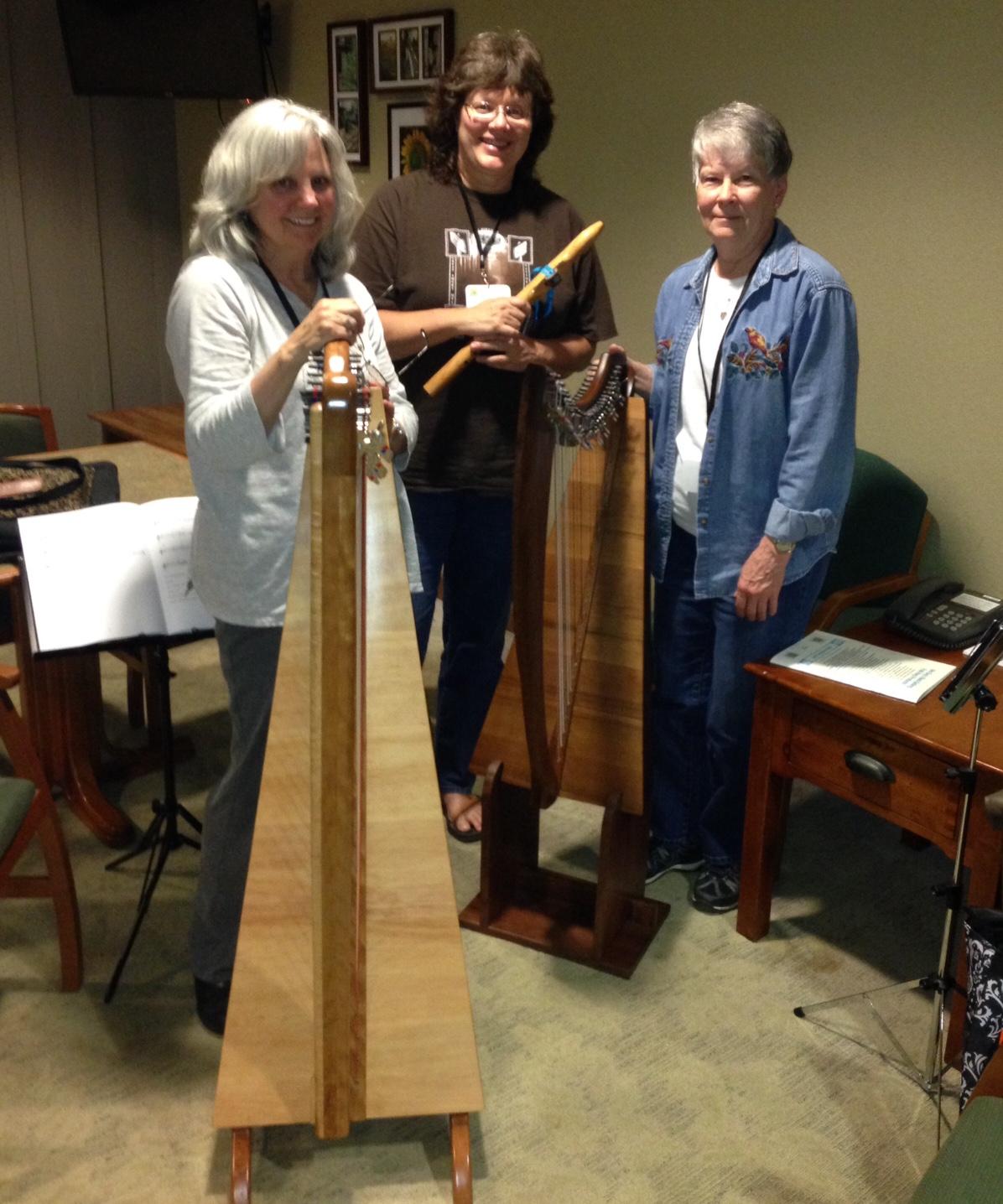 Judy with 2 harps
