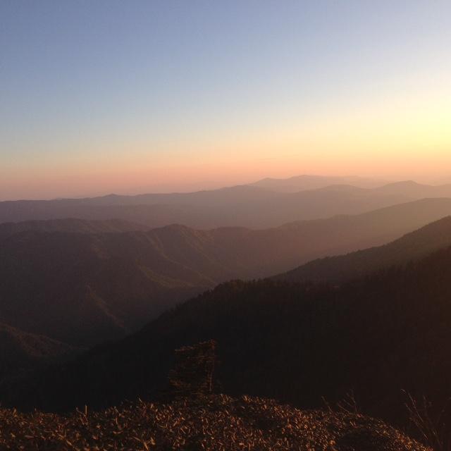 Sunset on Cliff Tops