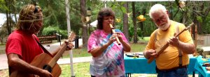 jamming with Native American-style flute
