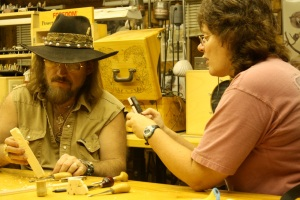 Gene Webb & Judy Robinson carving