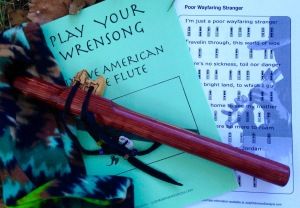 WrenSong Flute, book and fleece bag