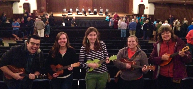 ukulele players at UOGB concert