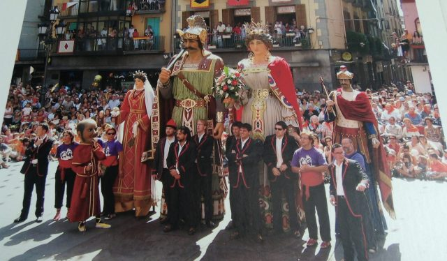 Photo of festival with gegants