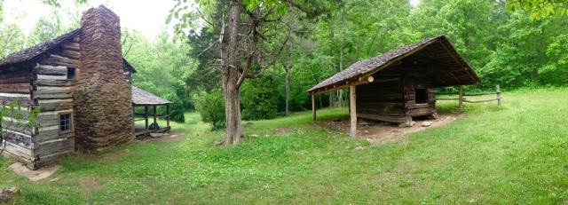 Walker Sisters Cabin - pano