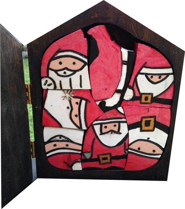 Santa wood puzzle by Judy Robinson