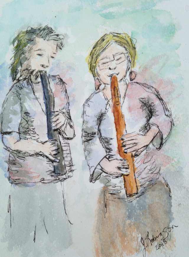 Native American Style Flute Players at the Leesburg, FL gathering. March, 2018