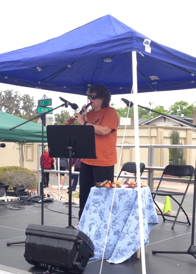 Judy plays flute at Leesburg Arts Festival 2018