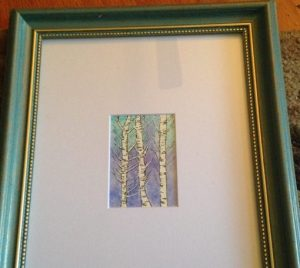 Miniature aspen watercolor