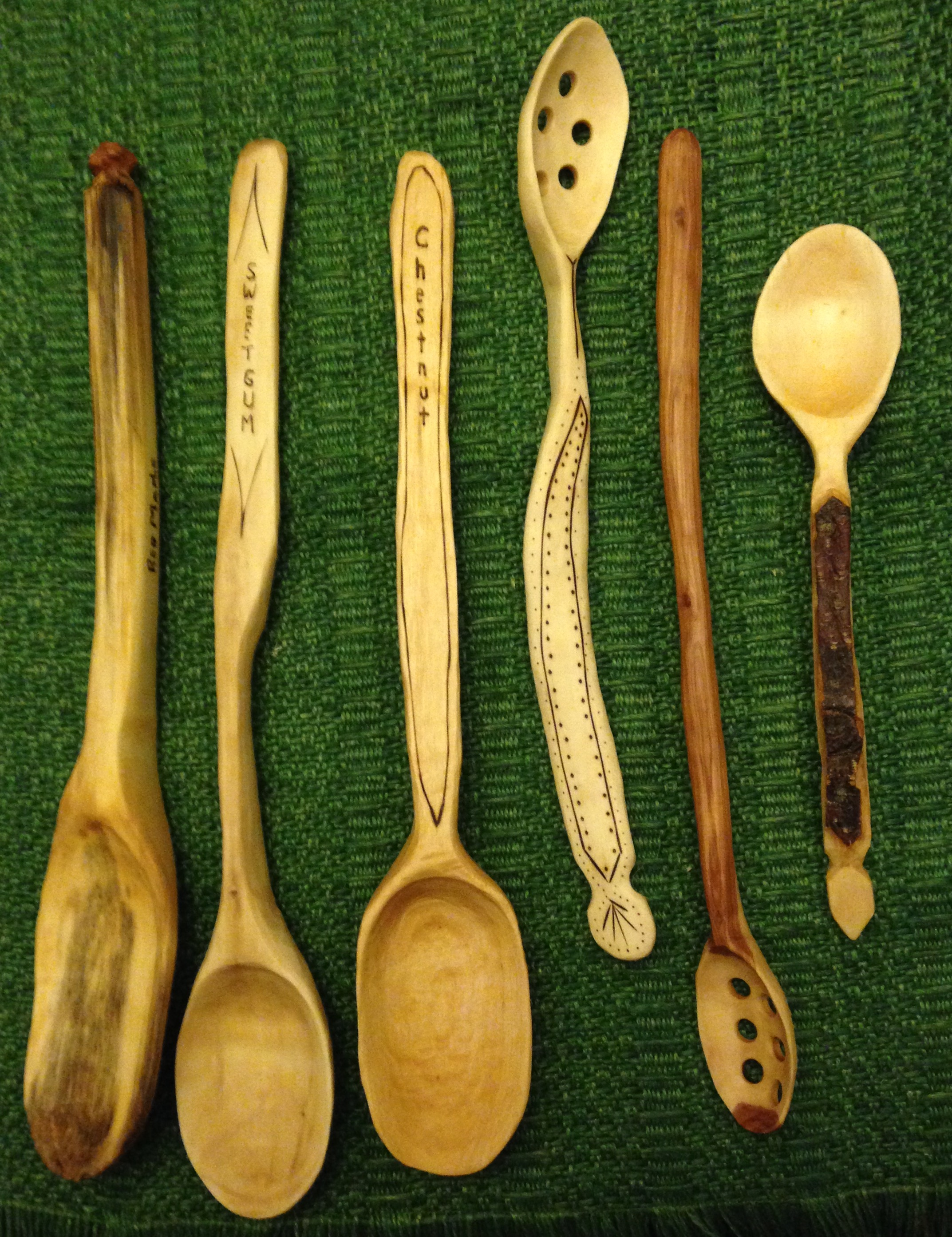 Carved Wood Spoons