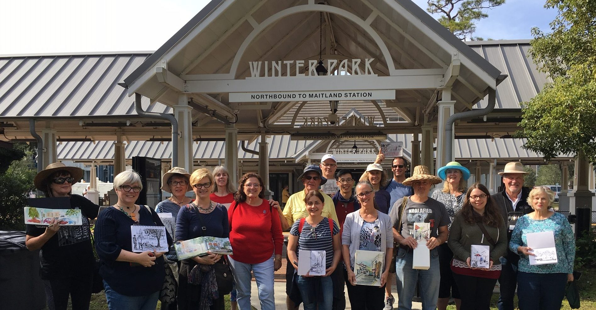 urban sketchers with James Richards in Winter Park