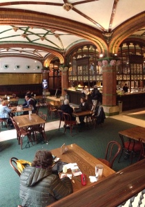 Sketching & Painting in the Palau de la Musica Cafe, Barcelona