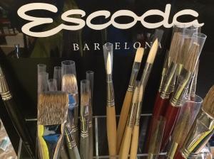 Piera Escoda brushes display