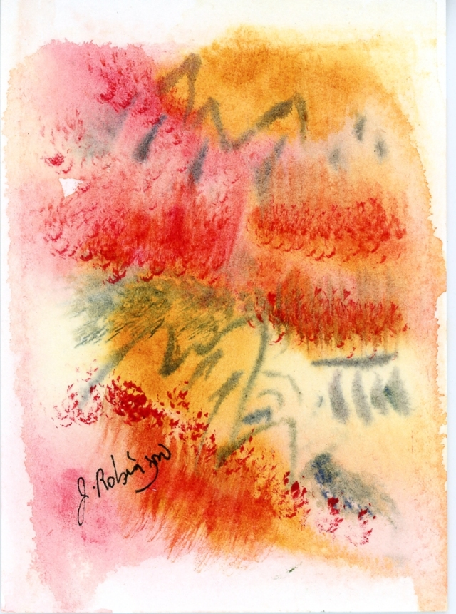 Abstract Watercolor by Judy Robinson