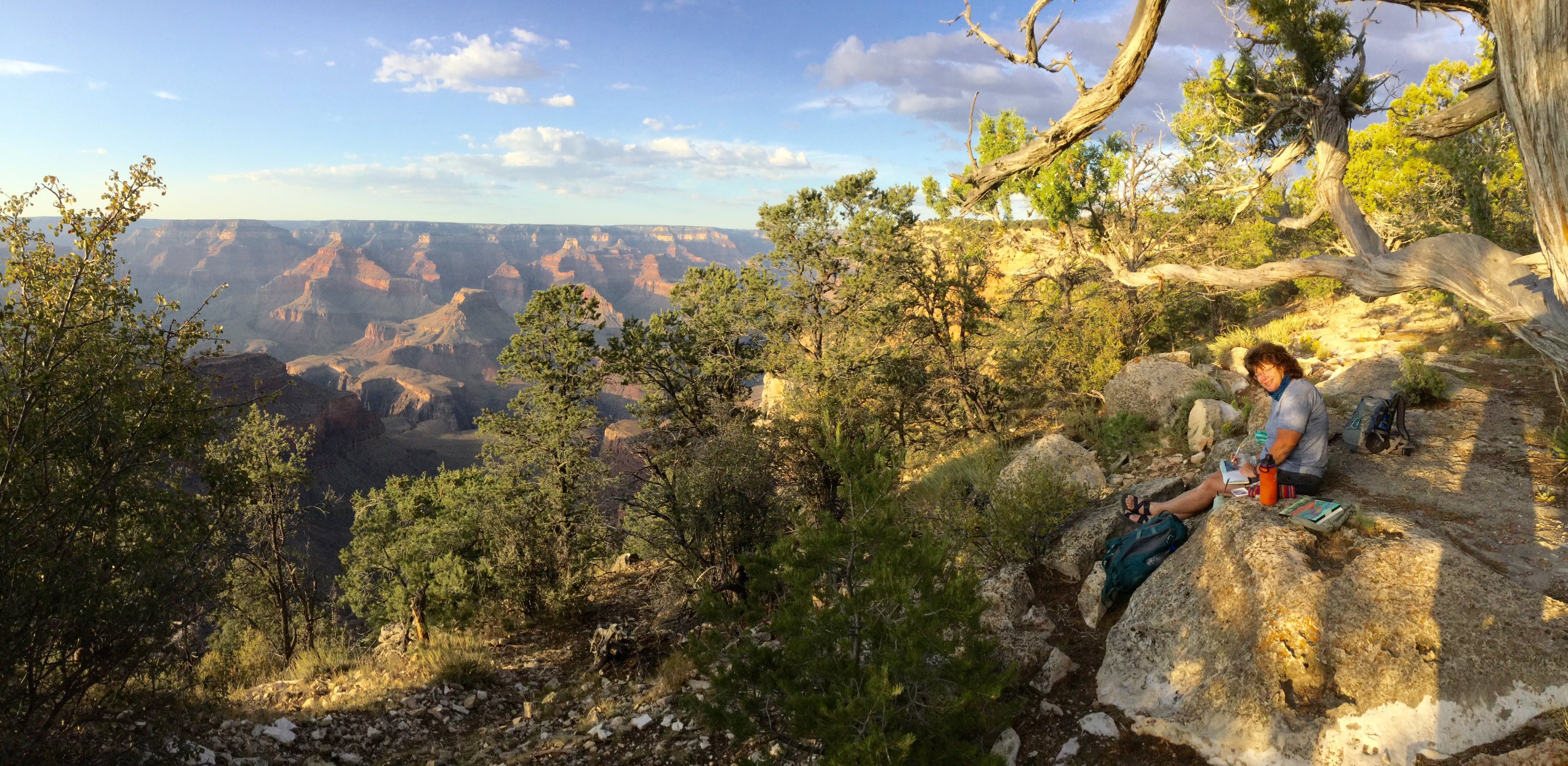 Judy painting on South Rim of Grand Canyon
