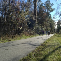 Riding Hawthorne Trail in the Sunshine with Friends