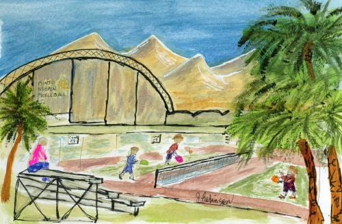 Urban Sketch: Pickleball Courts at East Naples Community Park