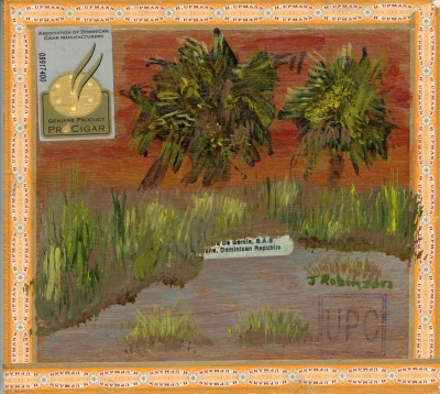 Palms on Cigarbox panel